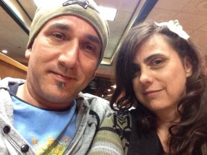 Me and Z at Denny's