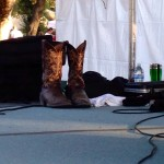 Lukas' boots on stage